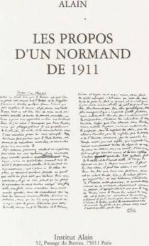 Les propos d'un Normand de 1911 - Alain