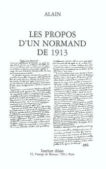 Les propos d'un Normand de 1913 - Alain