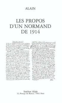 Les propos d'un Normand de 1914 - Alain