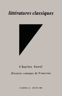 Littératures classiques, n° 41 -