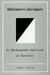 Littératures classiques, n° 47 -