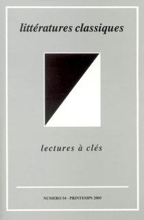 Littératures classiques, n° 54 -