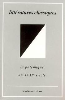 Littératures classiques, n° 59 -