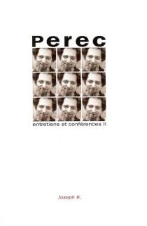 Entretiens et conférences - GeorgesPerec