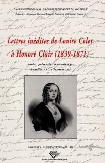 Lettres inédites de Louise Colet à Honoré Clair, 1839-1871 - LouiseColet