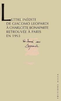 Lettre à Charlotte - GiacomoLeopardi