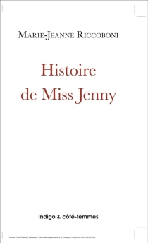 Histoire de Miss Jenny - Marie-JeanneRiccoboni