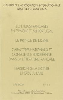 Cahiers de l'Association internationale des études françaises, n° 54 -