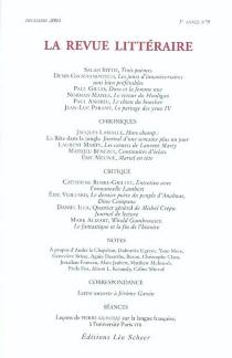 Revue littéraire (La), n° 9 (2004) -
