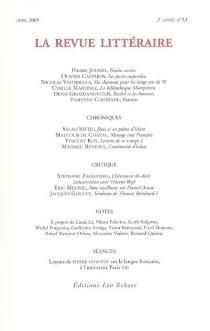 Revue littéraire (La), n° 13 -