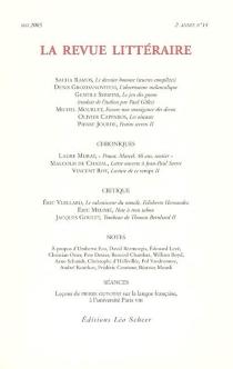 Revue littéraire (La), n° 14 -