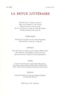Revue littéraire (La), n° 15 -
