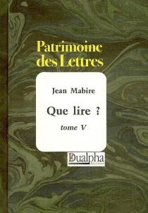 Que lire ? - JeanMabire