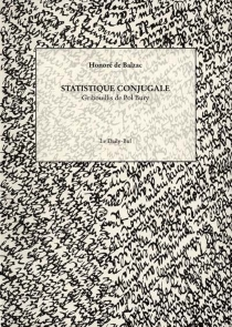 Statistique conjugale - Honoré deBalzac