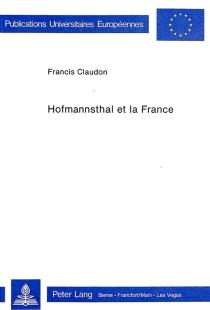 Hoffmannsthal et la France - FrancisClaudon