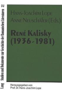 René Kalisky (1936-1981) et la hantise de l'histoire : actes du colloque international -