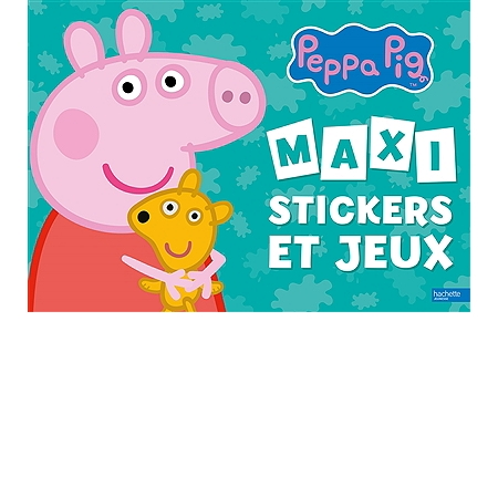 peppa pig maxi stickers et jeux coloriages espace culturel e leclerc. Black Bedroom Furniture Sets. Home Design Ideas