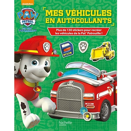 paw patrol la pat 39 patrouille mes v hicules en autocollants livres jeux espace culturel e. Black Bedroom Furniture Sets. Home Design Ideas