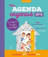 Mon agenda organisé 2018 : de septembre 2017 à septembre 2018 -