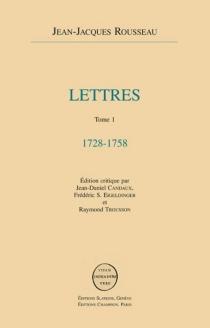 Lettres - Jean-JacquesRousseau