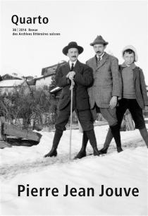 Quarto, revue des archives littéraires suisses, n° 38 -