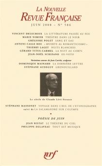 Nouvelle revue française, n° 586 -