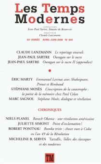 Temps modernes (Les), n° 649 - Jean-PaulSartre