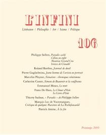 Infini (L'), n° 106 -