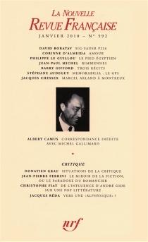 Nouvelle revue française, n° 592 -