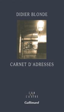 Carnet d'adresses - DidierBlonde