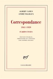 Correspondance, 1941-1959 : et autres textes - AlbertCamus