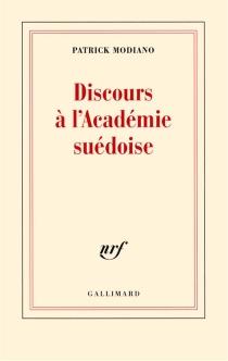 Discours à l'Académie suédoise - PatrickModiano