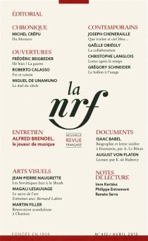 Nouvelle revue française, n° 612 -