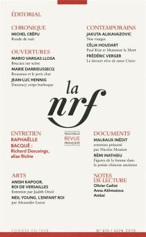 Nouvelle revue française, n° 613 -