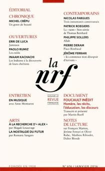 Nouvelle revue française, n° 616 -