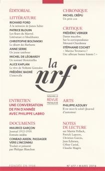 Nouvelle revue française, n° 617 -
