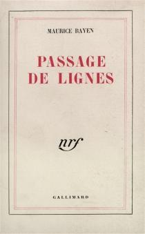 Passage de lignes - MauriceBayen