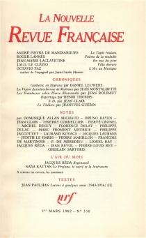 Nouvelle revue française, n° 350 -