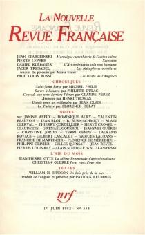 Nouvelle revue française, n° 353 -
