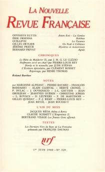 Nouvelle revue française, n° 329 -