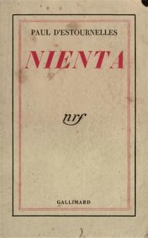 Nienta - Paul-Henri-Benjamin d'Estournelles de Constant