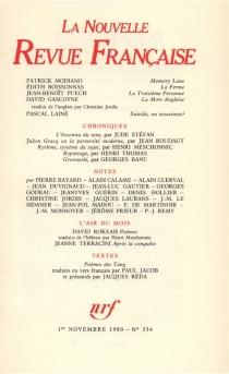 Nouvelle revue française, n° 334 -