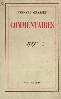 Commentaires - BernardGrasset
