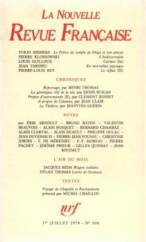 Nouvelle revue française, n° 306 -