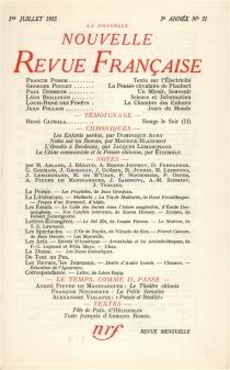Nouvelle revue française, n° 31 -