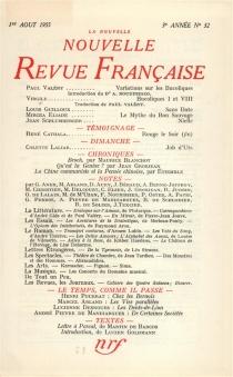 Nouvelle revue française, n° 32 -