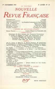 Nouvelle revue française, n° 35 -
