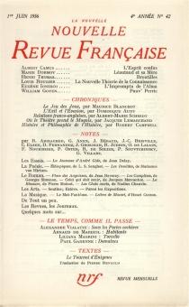Nouvelle revue française, n° 42 -