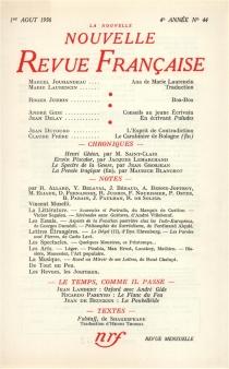 Nouvelle revue française, n° 44 -