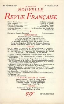 Nouvelle revue française, n° 50 -